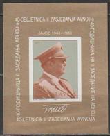 Jugoslawien 1983  Nr.2020 Block 23 Tito ( A4082) Günstige Versandkosten - Blocks & Sheetlets