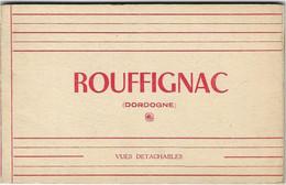 24 CPA ROUFFIGNAC CARNET DE 10 CARTES GENDARMERIE GRANDE RUE COMMERCE INCENDIE 1944 PLACE LIBERTE CHATEAU - Autres Communes