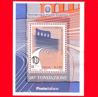 ITALIA - Usato - 2013 - 100º Anniversario Del Festival Lirico Dell'arena Di Verona - BF - Gradinate Dell'arena - 1,90 - Blocks & Sheetlets