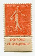 """FRANCE N°199e * AVEC BANDE PUBLICITAIRE """" PARTOUT ET TOUJOURS """" - Publicités"""