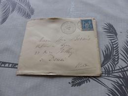 13/9. 108 , Lettre Type Sage, De Paris, Rue Bonaparte à Douai, Nord, 1885 - 1877-1920: Periodo Semi Moderno