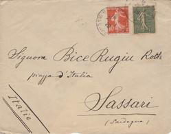 LETTERA FRANCIA 1920 ARRIVO SASSARI (VS162 - Cartas