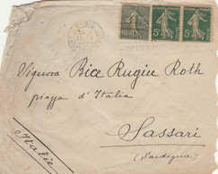 LETTERA FRANCIA 1920 ARRIVO SASSARI (VS163 - Cartas