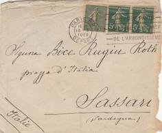 LETTERA FRANCIA 1920 ARRIVO SASSARI (VS164 - Cartas