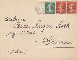 LETTERA FRANCIA 1920 ARRIVO SASSARI (VS165 - Cartas