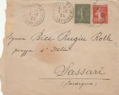 LETTERA FRANCIA 1920 ARRIVO SASSARI (VS166 - Cartas