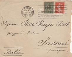 LETTERA FRANCIA 1920 ARRIVO SASSARI (VS168 - Cartas