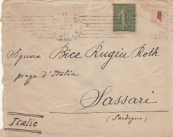 LETTERA FRANCIA 1920 ARRIVO SASSARI (VS170 - Cartas