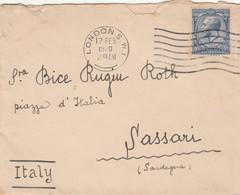 LETTERA FRANCIA 1920 ARRIVO SASSARI (VS174 - Cartas
