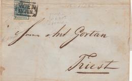 LETTERA AUSTRIA 1852 TIMBRO WIEN DIRETTA AUSTRIA (VS303 - Covers & Documents