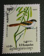Cambodja - Mi Xxxx - 1984 - Gestempeld - Cancelled - Vogels - Lanius Schach - Langstaartklauwier - Cambodia