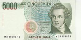 BANCONOTA ITALIA LIRE 5000 BELLINI UNC (VS448 - 5000 Liras