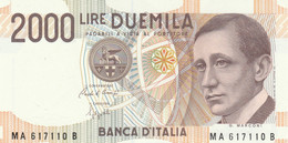 BANCONOTA ITALIA LIRE 2000 MARCONI UNC (VS450 - 5000 Liras