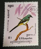 Cambodja - Mi Xxxx - 1984 - Gestempeld - Cancelled - Vogels - Motacilla Cinerea - Grote Gele Kwikstaart - Cambodia