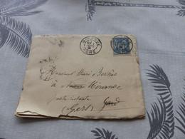 13/9. 123 , Lettre Type Sage, De Mirande à Nîmes, Gard, Cachet Poste Restant , Nîmes, 1891 - 1877-1920: Periodo Semi Moderno