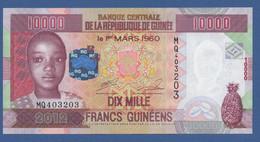 GUINEA - P.46 – 10.000 FRANCS 2012 UNC Serie MQ403203 - Guinea