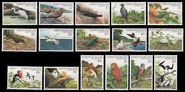 Weihnachtsinsel 1982 - Mi-Nr. 154-169 ** - MNH - Vögel / Birds - Christmaseiland