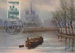 France Carte Maximum Paris 1951 776 Cathédrale Notre Dame - 1950-59