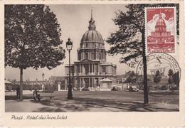 France Carte Maximum Paris 1946 751 Hôtel Des Invalides - 1940-49
