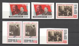 Obervolta 1977  , Lenin , 6 Marken Postfrisch Geschnitten - Haute-Volta (1958-1984)