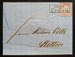 Deutsches Reich 1873, Brief 1Gr. DANZIG STADT-POST 11.4.73 Nach STETTIN - Covers & Documents