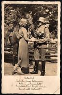 F4097 - Soldat Uniform Abzeichen Propaganda Pferd Horses Hübsche Junge Frau Pretty Young Women - Gel Freiberg - Weltkrieg 1939-45