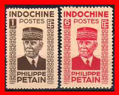 INDOCHINA.-  ( COLONIAS FRANCESAS )SELLOS AÑO 1942-44 PHILIPPE PÉTAIN - Ungebraucht