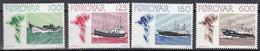 FÄRÖER  Jahrgang 1977, Postfrisch **, 24-30, Fischerei-Schiffe, Vögel - Färöer Inseln