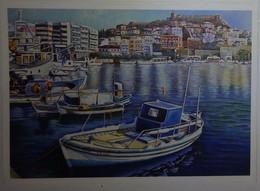 Petit Calendrier De Poche 2018 APBP Port En Plein Soleil  Peint Avec La Bouche - Artiste Peintre - Small : 2001-...