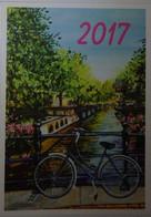 Petit Calendrier De Poche 2017 APBP Pont à Amsterdam   Vélo Peint Avec La Bouche - Artiste Peintre - Small : 2001-...