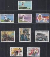 FÄRÖER Jahrgang 1985, Postfrisch **, 112-129, Komplett, Gemälde, Europa, Leuchttürme, Flugzeuge - Färöer Inseln