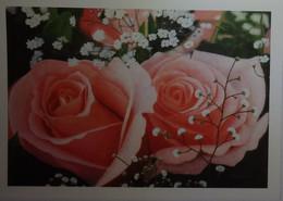 Petit Calendrier De Poche 2014 APBP Somptueuses Roses  Peint Avec La Bouche - Artiste Peintre - Small : 2001-...