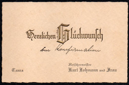 9437 - TOP Taucha Kurt Lohmann Fleischermeister Visitenkarte Glückwunschkarte - Tarjetas De Visita