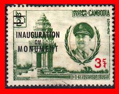 CAMBOYA.- SELLO AÑO 1962 INAUGURACION DEL MONUMENTO A LA INDEPENDENCIA ( SOBRECARGADO ) ASIA - Cambodia
