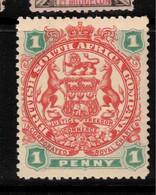 RHODESIA 1896 1d Arms SG 67 HM #BAW3 - Other