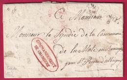 FRANCHISE SARDE COMMANDEMENT DE CHAMBERY TEXTE DRAGONS DU GENEVOIS POUR LA MOTTE EN BAUGE SAVOIE 1828 - 1801-1848: Precursori XIX