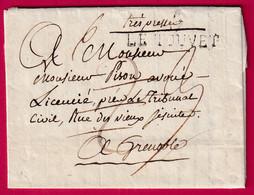 MARQUE 37 LE TOUVET ISERE TEXTE LA TERRASSE 1816 POUR GRENOBLE INDICE 13 - 1801-1848: Precursori XIX