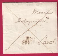 MARQUE P51P CHATEAU GONTIER MAYENNE 1823 POUR LAVAL INDICE 11 - 1801-1848: Precursori XIX