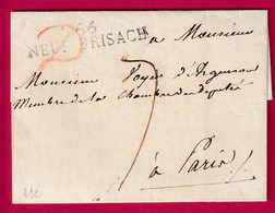 MARQUE 66 NEUF-BRISACH HAUT RHIN POUR PARIS 1819 INDICE 10 - 1801-1848: Precursori XIX