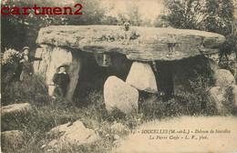SOUCELLES DOLMEN DE SOUCELLES LA PIERRE CEZEE MENHIR ANIME 49 MAINE-ET-LOIRE - Zonder Classificatie
