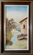 Scène Méditerranéenne Avec Vue Sur Une Rivière/ Mediterranean Scene With A View Of A River - Olii