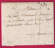 MARQUE 66 DELLE HAUT RHIN 1808 POUR LUXEUIL HAUTE SAONE INDICE 11 - 1801-1848: Precursori XIX