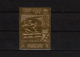 Yemen Kingdom 1969 Olympic Games Munich Gold Stamp MNH - Ete 1972: Munich