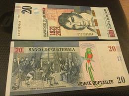 "GUATEMALA  20 Quetzales  ""Just Issued"" COMMEMORATIVE. 1821-2021 - Guatemala"