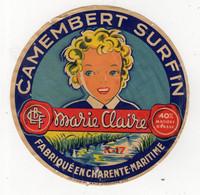 Spt21   17024    étiquette   Camembert  Marie Claire - Fromage