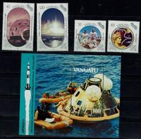 VANUATU 1986  SPACE MI No 821-4+BLOCK 13 MNH VF!! - Oceania