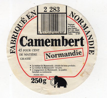 Spt21   GM 001   étiquette   Camembert  Mammouth - Fromage