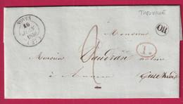 CAD TYPE 14 VOVES EURE ET LOIR OR + DECIME RURAL THEUVILLE 1846 POUR AUNEAU - 1801-1848: Precursori XIX