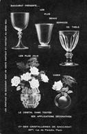 Baccarat  Compagnie Des Cristalleries  Carte Postale Publicitaire - Baccarat