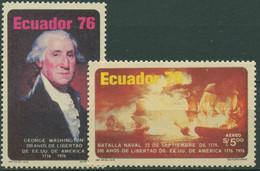 Ecuador 1976 G.Washington Unabhängigkeit Amerikas Seeschlacht 1734/35 Postfrisch - Ecuador
